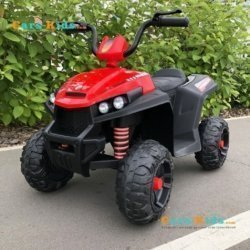Электроквадроцикл T111TT красный (колеса резина, сиденье кожа, музыка)